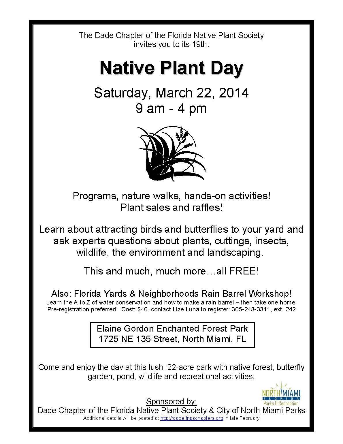 ... To Learn More About IRC And All The Other Great Resources In South  Florida For Native Plants! To Learn More Go To The Dade Chapter Of The  Florida Native ...